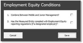 Employment Equity Conditions